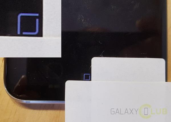 Galaxy S8 pulsante Home burn-in