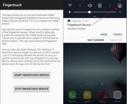 Samsung Galaxy S7 fingertouch app