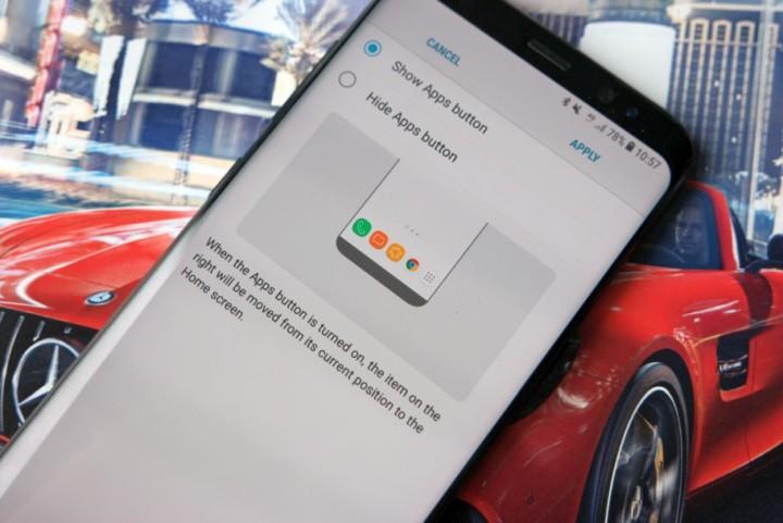 Samsung Galaxy S8 app Drawer