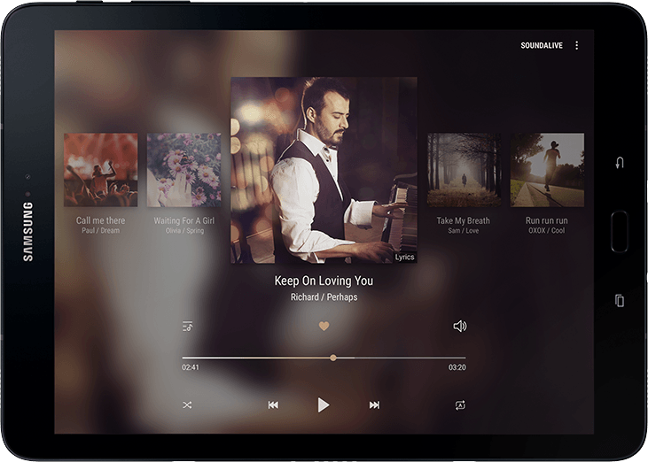 Samsung Galaxy Tab S3 Audio