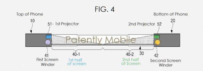brevetto schermo Samsung retrattile