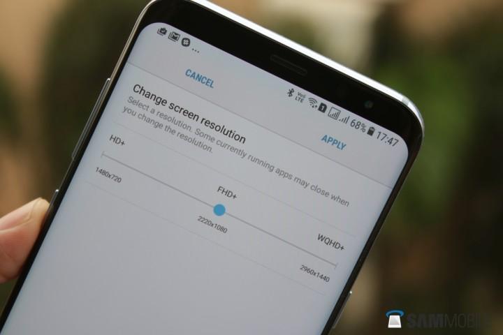 Galaxy S8 risoluzione schermo