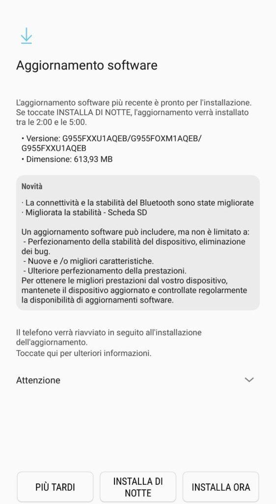 Galaxy S8 update Maggio 2017 2