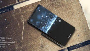 Samsung Galaxy Note 8 pannello anteriore