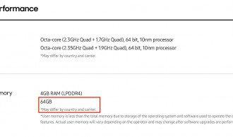 Samsung Galaxy S8 memoria Snapdragon