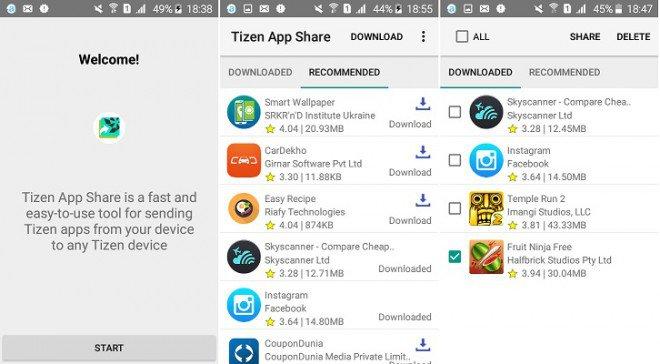 Samsung Tizen App Share