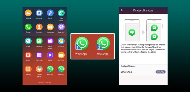 Samsung Tizen app condivise