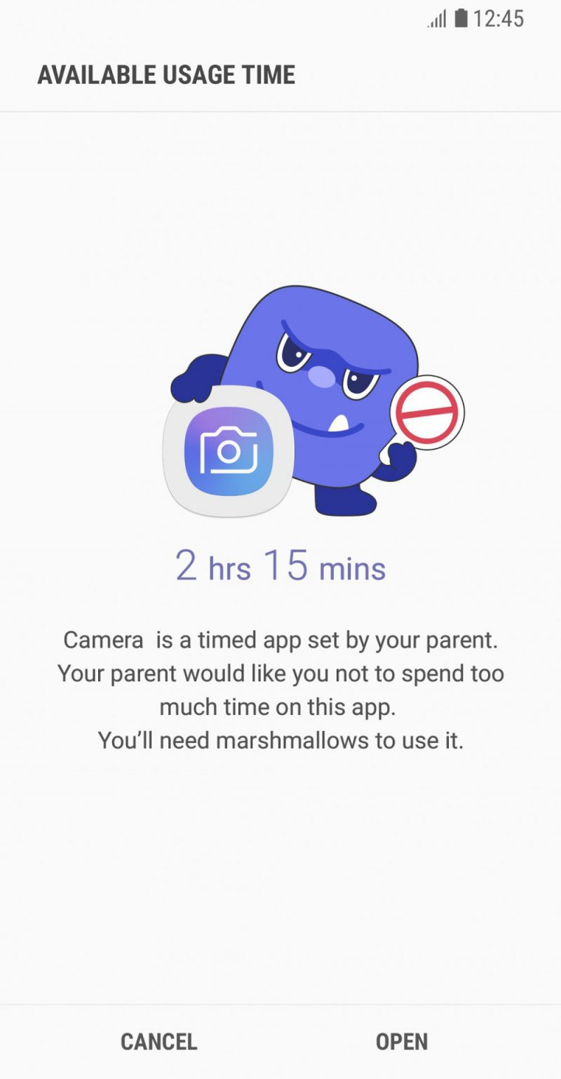 applicazione Samsung Parental Control