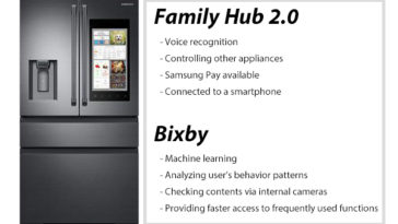assistente vocale Bixby per Samsung Family Hub 2.0