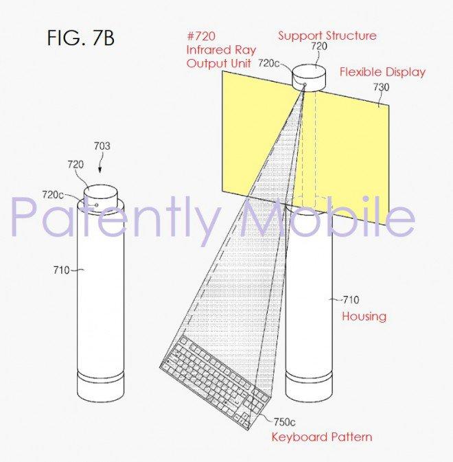 brevetto Samsung display srotolabile