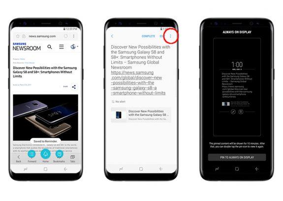 Galaxy S8 Promemoria