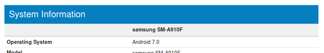 Samsung Galaxy A9 Pro Android 7 Nougat Update Geekbench