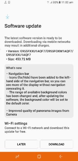 Samsung Galaxy S8 update Giugno 2017