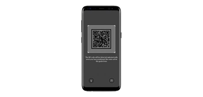 Samsung Internet 5.4 estensione QR Code Scanner