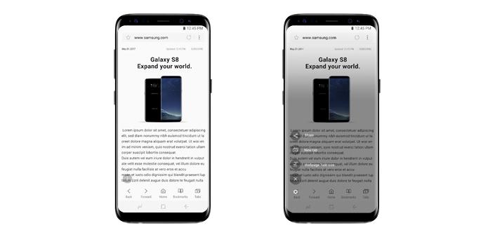 Samsung Internet 5.4 estensione Quick Menu