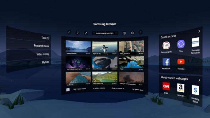 Samsung Internet Samsung Gear VR